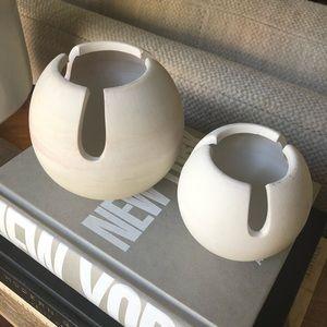 Southwest Ceramic Boho Vases Pots Set of 2